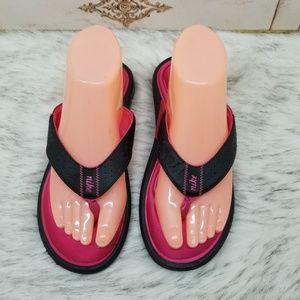 Nike memory foam thong sandals sz 8